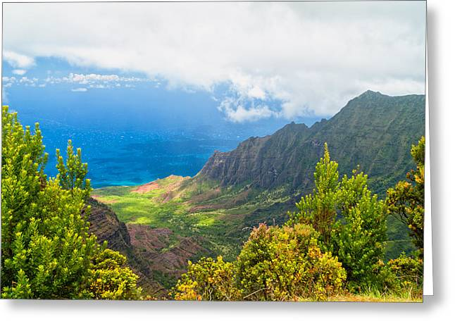 Jurassic Park Greeting Cards - Kalalau Valley 2 Greeting Card by Brian Harig