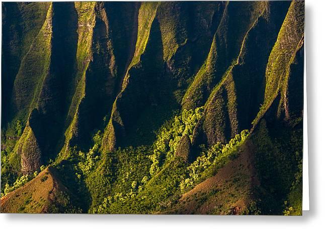 Kalalau Valley Ridges Greeting Card by Thorsten Scheuermann