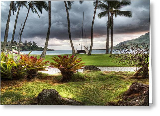 Tropical Photographs Photographs Greeting Cards - Kalapaki Beach Kauai Greeting Card by Joe  Palermo