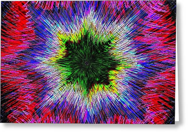 Energize Greeting Cards - Kaleidomicro Greeting Card by Will Borden