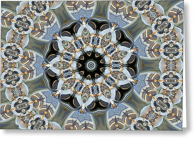 Patterned Greeting Cards - Kaleidoscope 84 Greeting Card by Ron Bissett
