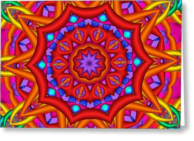 Rainbow Greeting Cards - Kaleidoscope Flower 02 Greeting Card by Ruth Moratz