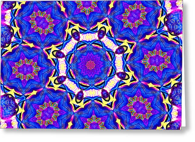 Charlotte Greeting Cards - Kaleidoscope in Multi Color Four Greeting Card by Morgan Carter