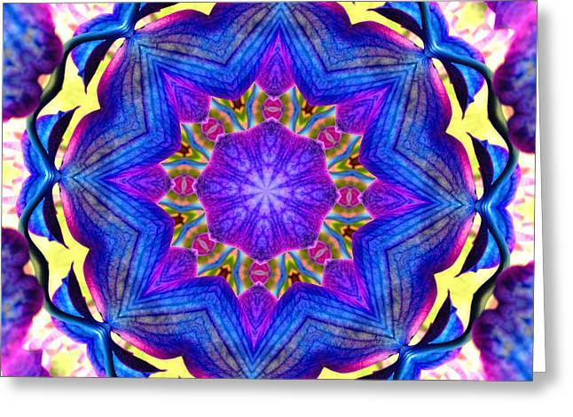 Charlotte Greeting Cards - Kaleidoscope in Multi Color One Greeting Card by Morgan Carter