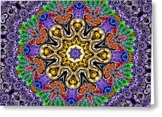 Charlotte Greeting Cards - Kaleidoscope in Multi Color Two Greeting Card by Morgan Carter
