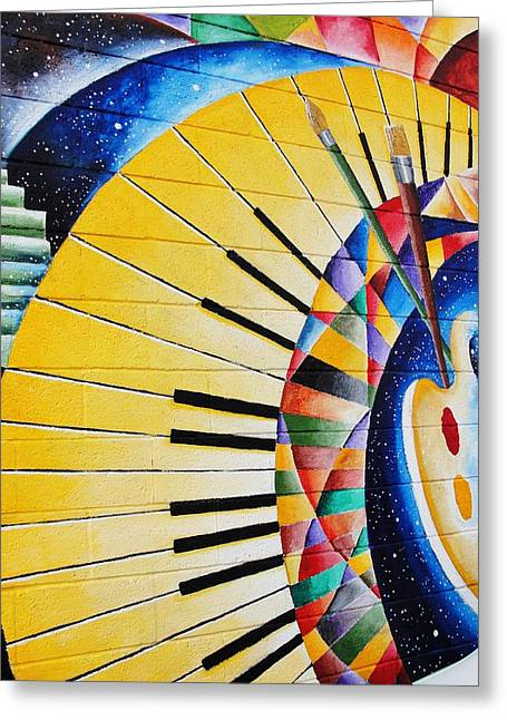 Artist Photographs Greeting Cards - Kaleidoscope Pallet And Piano Keys Greeting Card by Natalie Ortiz