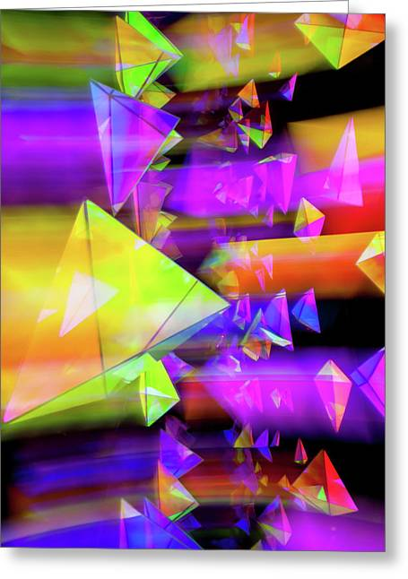 Connected Greeting Cards - Kaleidoscopic Mind Greeting Card by Az Jackson