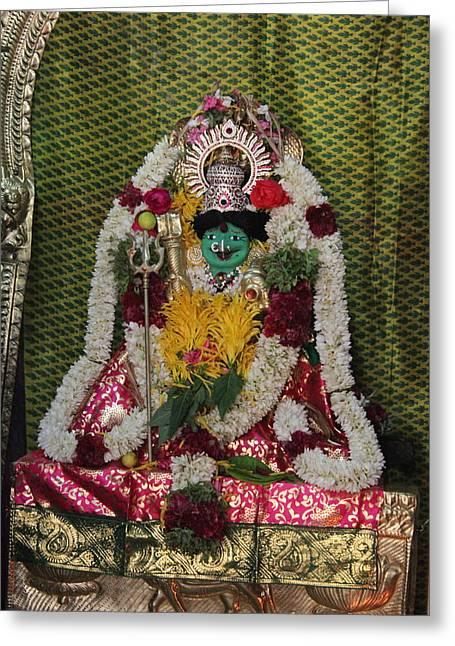 Kali, Devi Temple, Kodaikanal Greeting Card by Jennifer Mazzucco