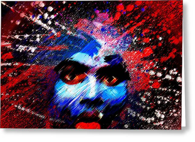 Goddess Durga Digital Art Greeting Cards - Kali Shakti Power Greeting Card by James Toole