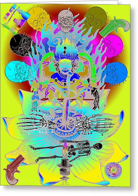 Out Of It Greeting Cards - Kali Yuga Greeting Card by Eric Edelman