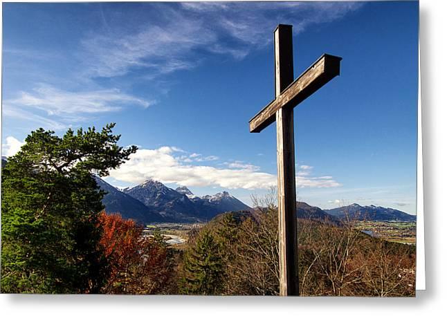 The Wooden Cross Photographs Greeting Cards - Kalvarienberg Greeting Card by Scott Wurzel