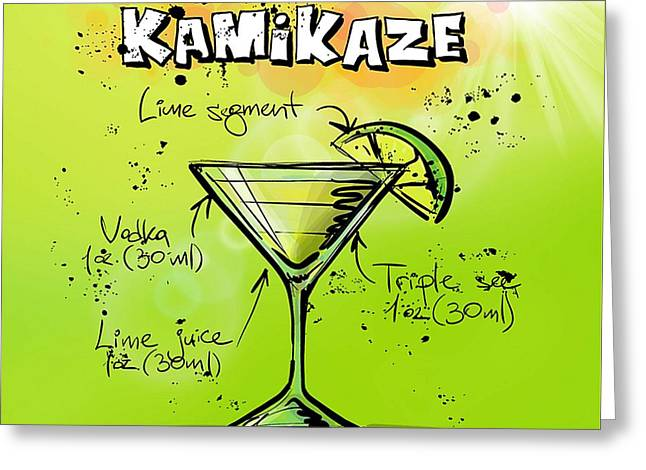 Kamikaze Cocktail Greeting Card by Spencer McKain