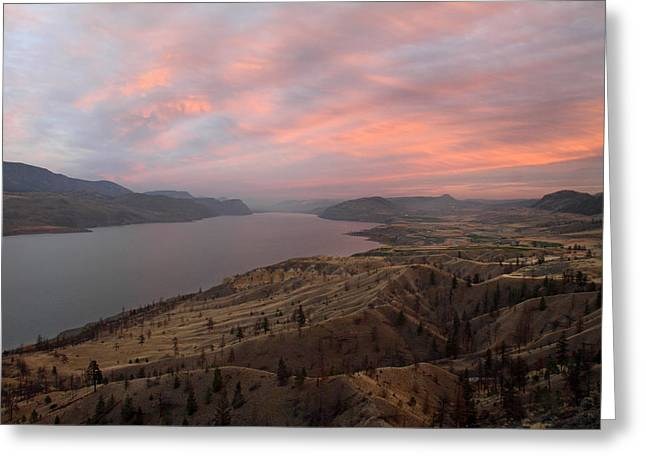 Kamloops Greeting Cards - Kamloops lake British Columbia Canada Greeting Card by Pierre Leclerc Photography