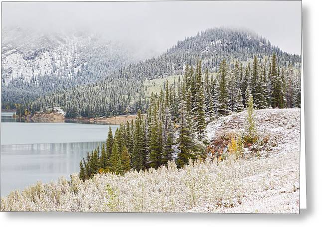 Ly Greeting Cards - Kananaskis Country Winter Snow Canadian Rockies Greeting Card by Binh Ly