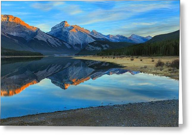 Kananaskis Sunkissed Mountains Greeting Card by Adam Jewell