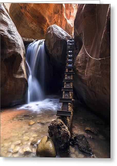 Southern Utah Greeting Cards - Kanarraville Falls Greeting Card by Bjorn Burton