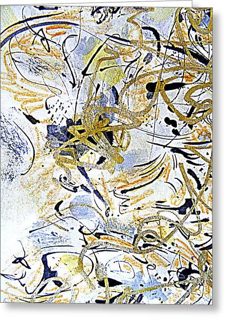 Energize Paintings Greeting Cards - Kandinsky Carnival Greeting Card by Nancy Kane Chapman