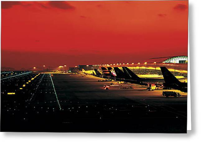 Kansai International Airport Osaka Japan Greeting Card by Panoramic Images