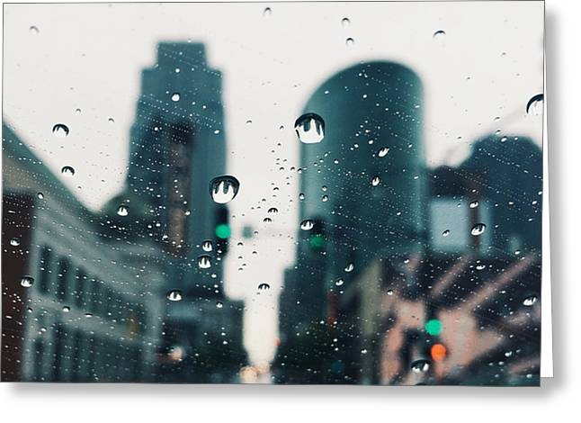 City Lights Greeting Cards - Kansas City #7 Greeting Card by Stacia Blase
