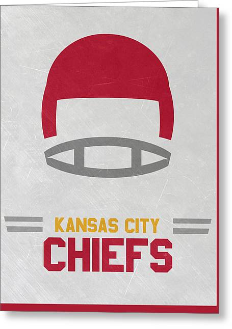 Kansas City Chiefs Vintage Art Greeting Card by Joe Hamilton