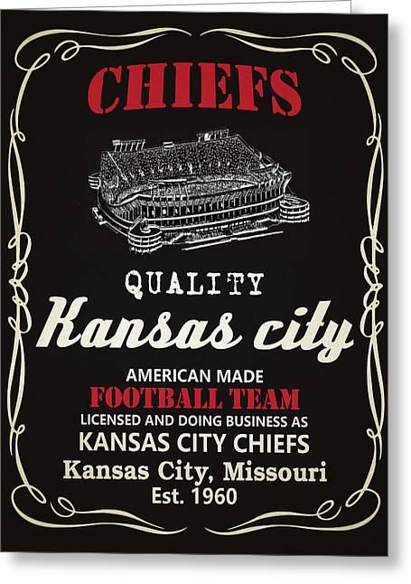 Kansas City Chiefs Whiskey Greeting Card by Joe Hamilton