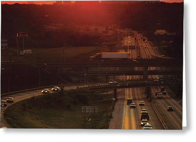Kansas City I 70 Sunset Greeting Card by Don Wolf
