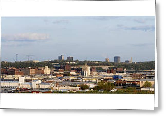 Kansas City Greeting Cards - Kansas City Missouri Panorama Greeting Card by Don Wolf