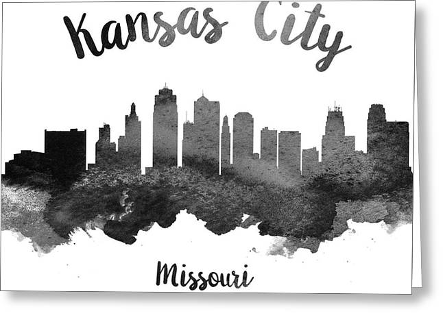 Kansas City Skyline Greeting Cards - Kansas City Missouri Skyline 18 Greeting Card by Aged Pixel