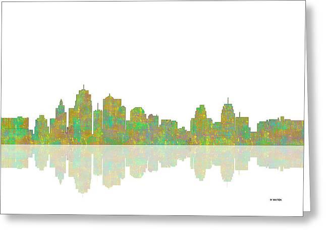 Kansas City Greeting Cards - Kansas City Missouri Skyline Greeting Card by Marlene Watson