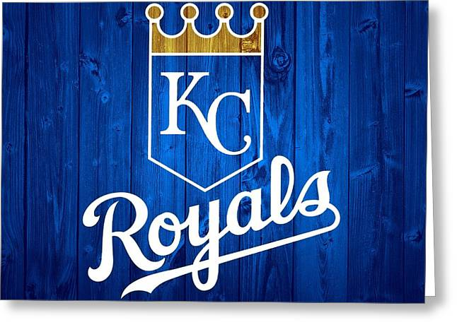 Kansas City Royals Barn Door Greeting Card by Dan Sproul