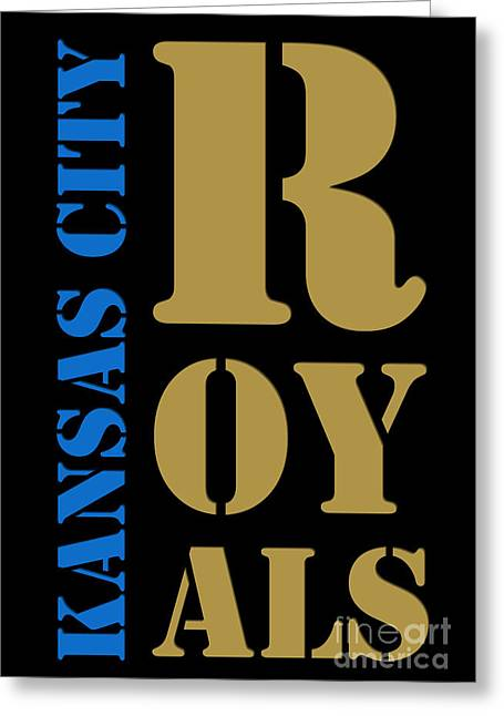 Kansas City Royals Typography Greeting Card by Pablo Franchi