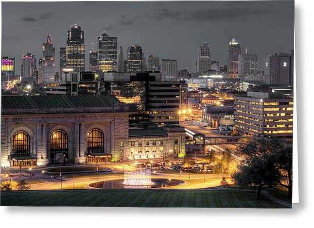 Center City Greeting Cards - Kansas City Skyline Greeting Card by Ryan Heffron