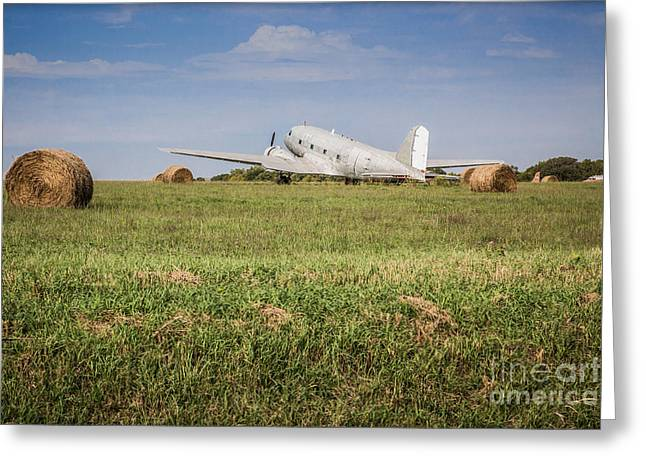 Surprise Greeting Cards - Kansas Hay Field Greeting Card by Lynn Sprowl