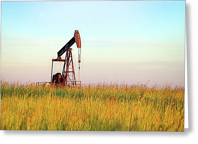 Kansas Oil Production Greeting Card by JC Findley