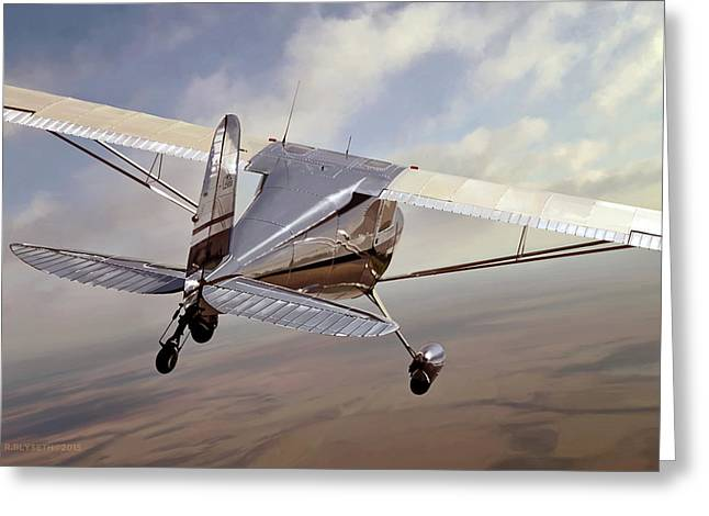 Cessna Greeting Cards - Kansas Planes Too Greeting Card by Rick Blyseth