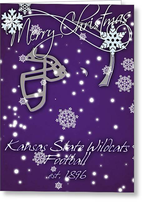 Wildcat Greeting Cards - Kansas State Wildcats Christmas Card Greeting Card by Joe Hamilton