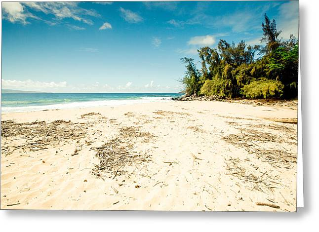 My Ocean Greeting Cards - Kapalua Beach Honokahua Maui Hawaii Greeting Card by Sharon Mau