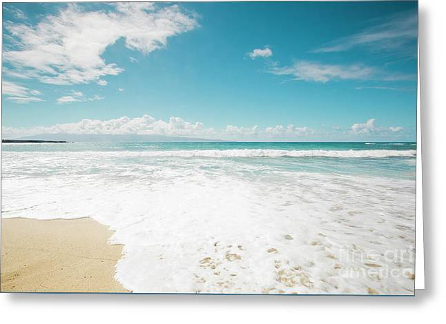 Kapalua Beach Honokahua Maui Hawaii  Greeting Card by Sharon Mau