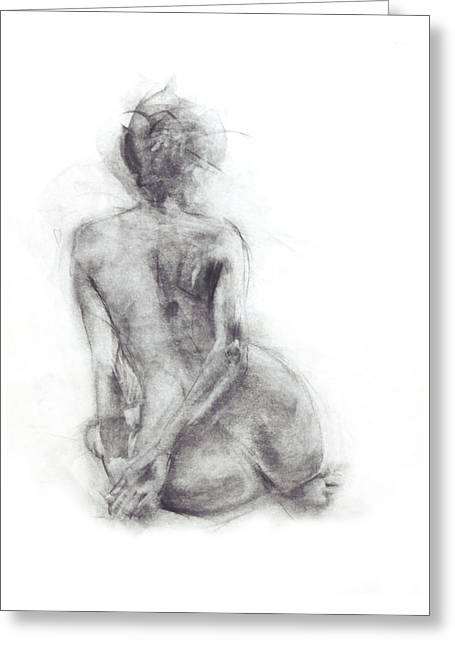 Best Sellers -  - Ballet Dancers Drawings Greeting Cards - Karen - sitting Greeting Card by Christopher Williams