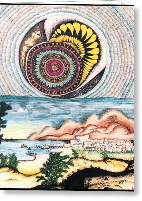 Disk Drawings Greeting Cards - Karen with Sincerity Greeting Card by Gabe Art Inc