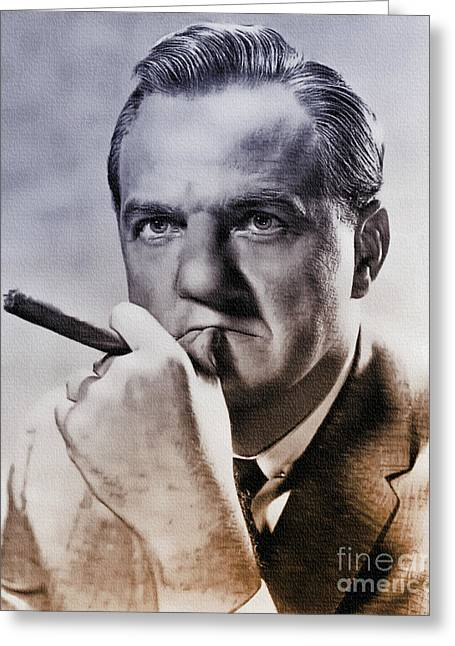 Karl Malden - Actor Greeting Card by Ian Gledhill