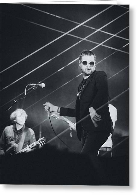 Pop Singer Greeting Cards - Kasabian Playing Live Greeting Card by Marco Oliveira