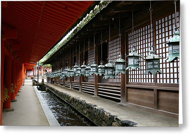 Nara Greeting Cards - Kasuga Taisha Greeting Card by Jessica Rose