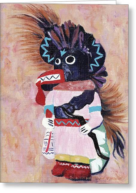 Katchina Greeting Card by Suzanne  Marie Leclair