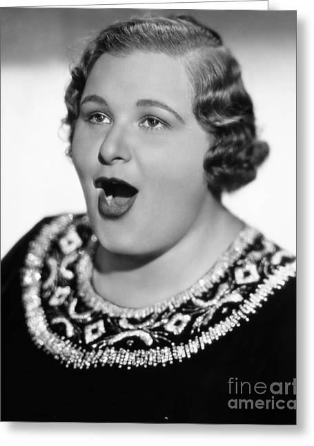 Kate Smith (1909-1986) Greeting Card by Granger