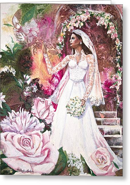 Kate Middleton Greeting Cards - Kate the Princess Bride Greeting Card by Patricia Allingham Carlson