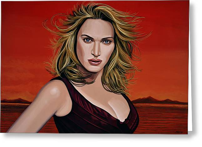 The Berkshires Greeting Cards - Kate Winslet Greeting Card by Paul Meijering