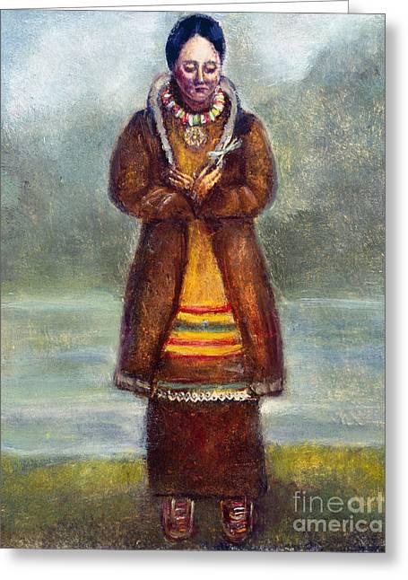 Kateri Tekakwitha Greeting Card by Granger
