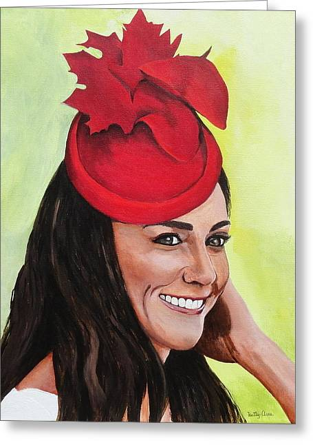 Duchess Of Cambridge Greeting Cards - Katherine Duchess of Cambridge Greeting Card by Betty-Anne McDonald