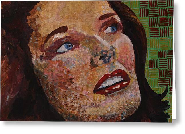 Katherine Hepburn Portrait Greeting Card by Robert Yaeger